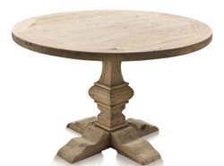 Casa Padrino luxury dining room table natural colors 120 x H. 76 cm - Dining Room Furniture
