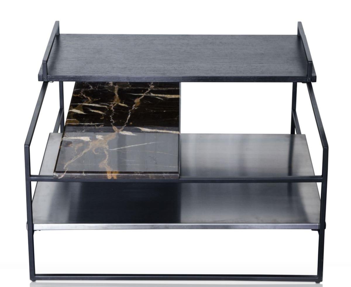 Casa padrino luxus couchtisch schwarz 60 x 60 x h 36 5 cm for Luxus couchtisch