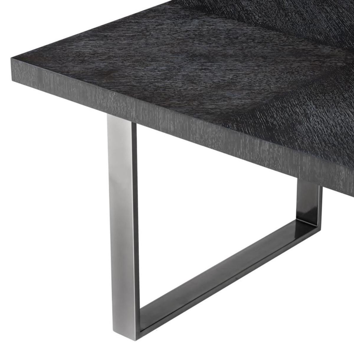 Casa Padrino mesa de comedor de lujo negro 250 x 110 x H. 75 cm - Muebles  de Comedor