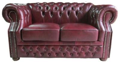 Divano Rosso Pelle : Casa padrino divano a posti in vera pelle rosso scuro x