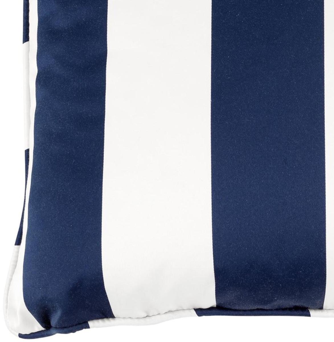 casa padrino luxus kissen blau wei 60 x 60 cm wohnzimmer accessoires heimtextilien luxus kissen. Black Bedroom Furniture Sets. Home Design Ideas