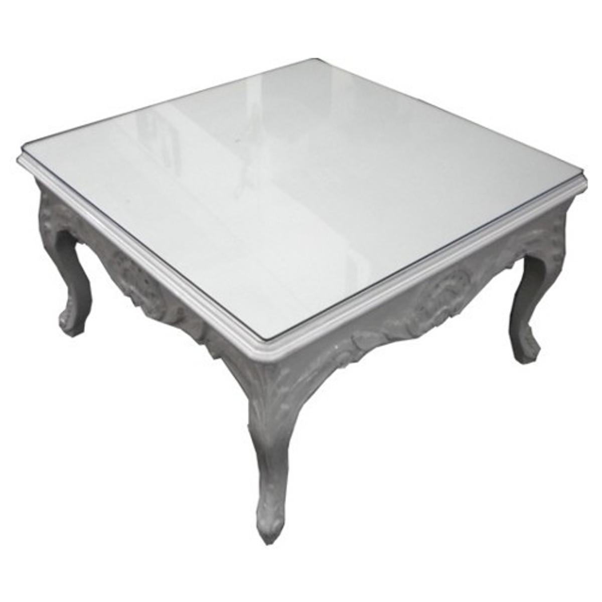 casa padrino barock salon tisch wei 70 x 70 cm couchtisch wohnzimmer tisch couchtische. Black Bedroom Furniture Sets. Home Design Ideas
