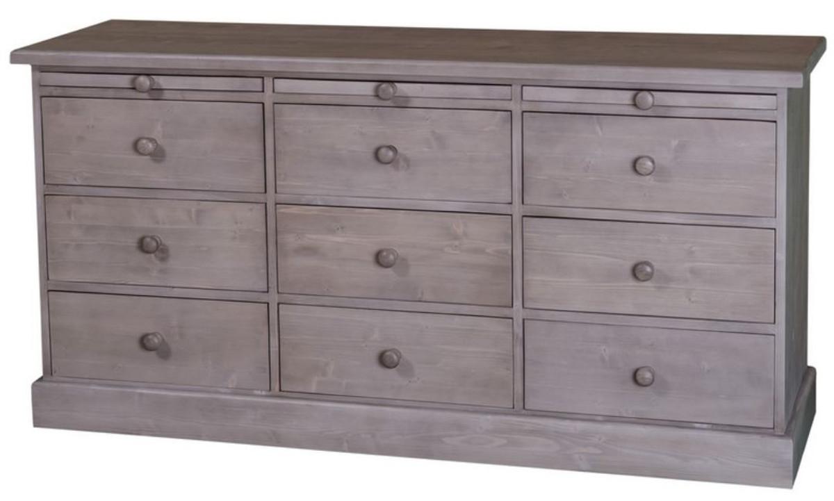 casa padrino landhausstil kommode mit 6 schubladen b rom bel im landhausstil kommoden. Black Bedroom Furniture Sets. Home Design Ideas