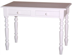 Casa Padrino desk with 2 drawers in white 109 x 60 x H. 79 cm - Country Style Furniture
