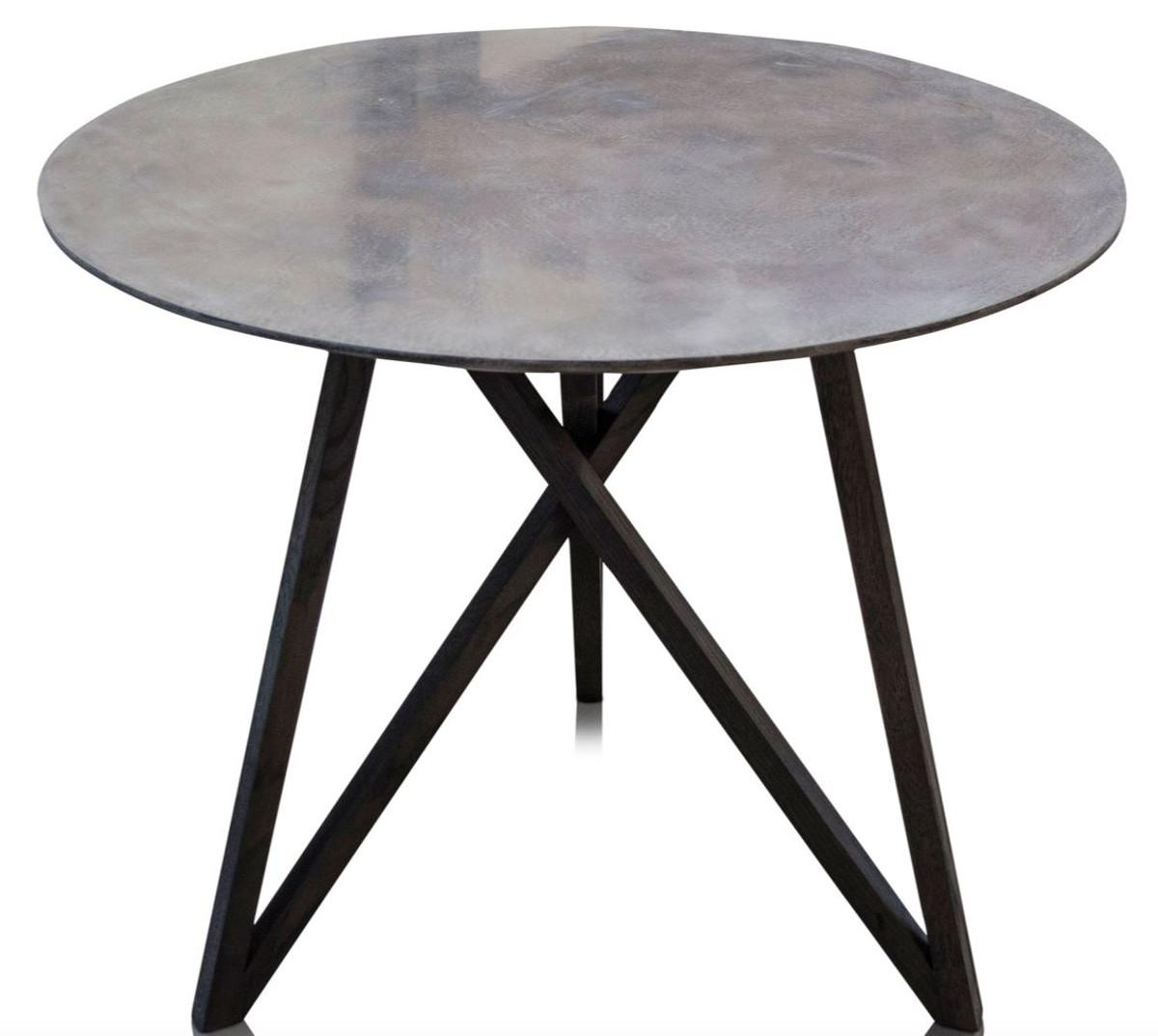 Casa Padrino Luxus Esstisch Mit Mineralbeschichteter Tischplatte 90