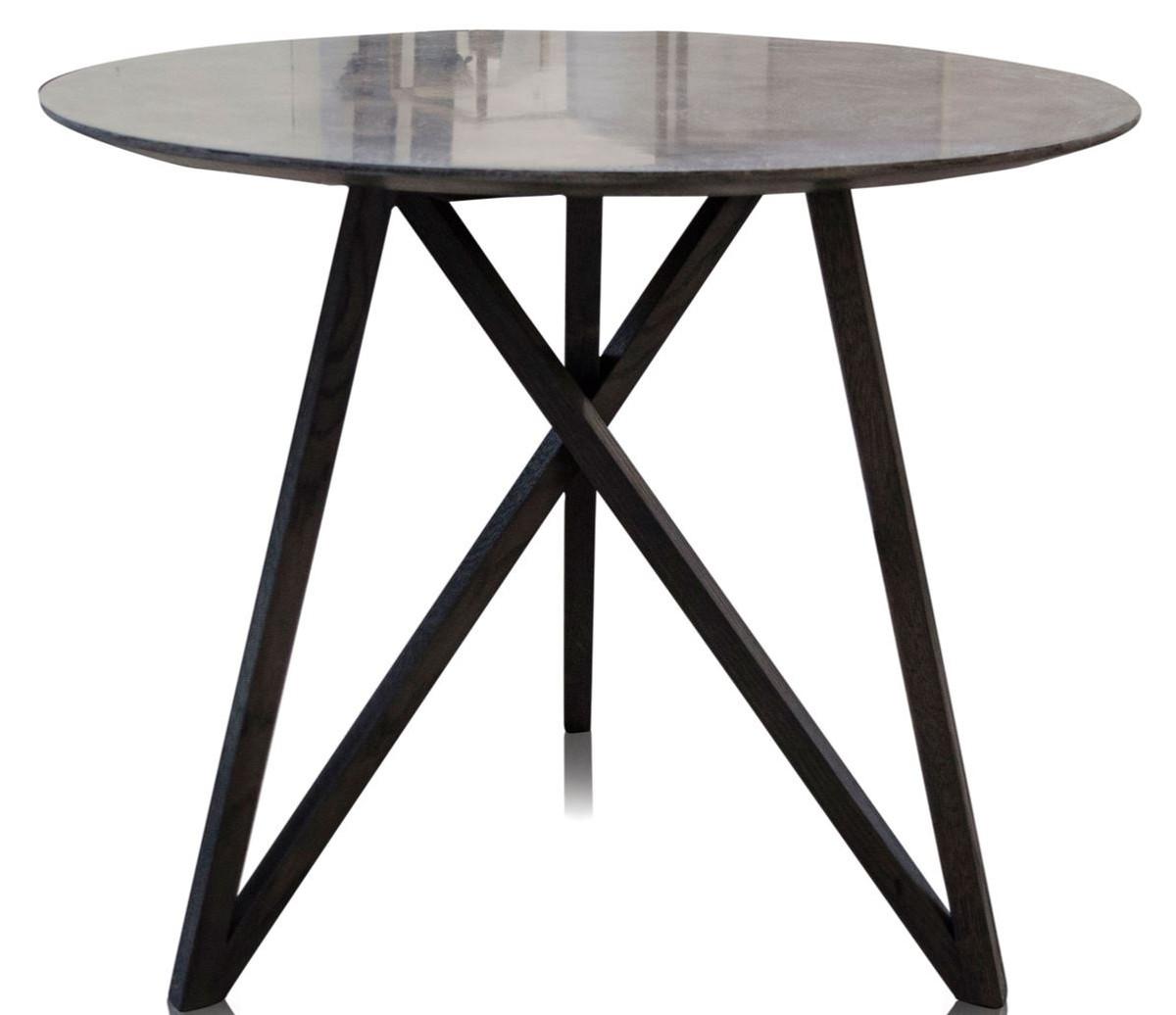 casa padrino luxus esstisch mit mineralbeschichteter tischplatte 90 x h 76 cm designer. Black Bedroom Furniture Sets. Home Design Ideas