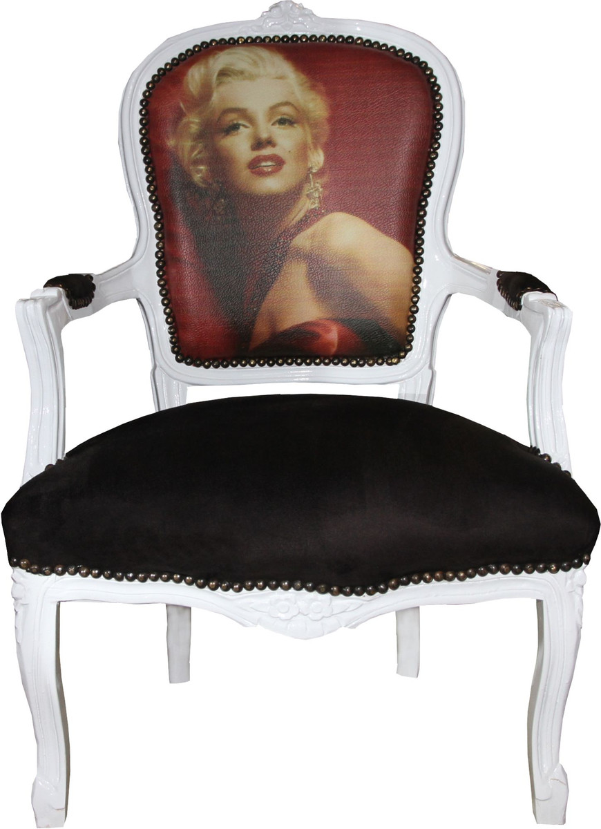 Casa Padrino Baroque Salon Chair Marilyn Monroe - Baroque Antique Style Furniture - Mod3 - Limited Edition  sc 1 st  Barockgrosshandel.de & Casa Padrino Baroque Salon Chair Marilyn Monroe - Baroque Antique ...