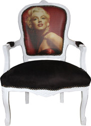 Casa Padrino Baroque Salon Chair Marilyn Monroe - Baroque Antique Style Furniture - Mod3 - Limited Edition