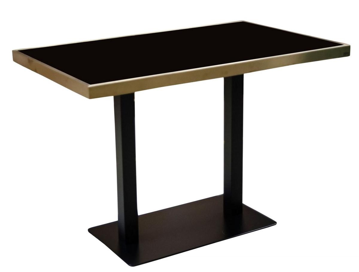 Casa Padrino mesa de comedor de lujo negro / dorado 110 x 70 x H. 76 cm -  Muebles de Comedor