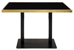 Casa Padrino luxury dining table black / gold 110 x 70 x H. 76 cm - Dining Room Furniture