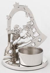 Casa Padrino Luxus Teelichthalter Silber 9 x 9 x H. 11 cm - Hotel Restaurant Kollektion
