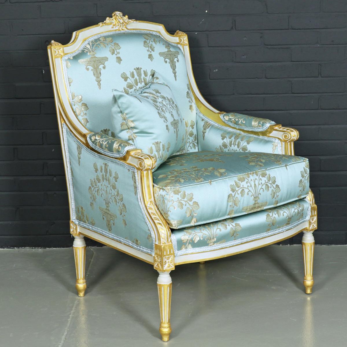 casa padrino antikstil lounge sessel hellt rkis gold 70 x 70 x h 100 cm barock m bel sessel. Black Bedroom Furniture Sets. Home Design Ideas