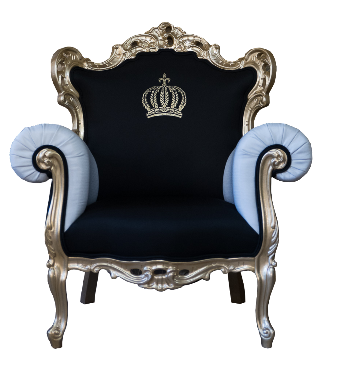 Pompöös By Casa Padrino Luxus Barock Sessel Schwarz Weiß Gold