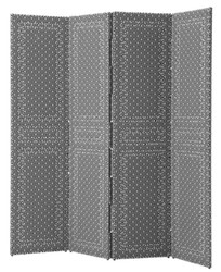 Casa Padrino Folding Screen Black / White 180 x H. 180 cm - Luxury Living Room Furniture