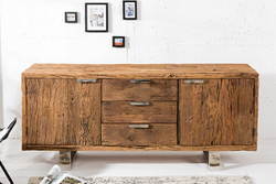 Casa Padrino luxury sideboard W.160 x H.75 x T.40 - TV cabinet - chest of drawers - Handmade from solid wood!