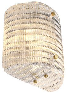Casa Padrino glass wall light 20 x 11 x H. 22 cm - Luxury Living Room Wall Lamp – Bild 4