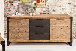 Casa Padrino luxury sideboard W.180 x H.80 x T.45 - TV cabinet - chest of drawers - Handmade from solid wood!