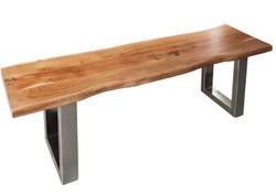 Casa Padrino Designer Sitzbank aus massivem Akazienholz Breite 160 cm, Höhe 40 cm