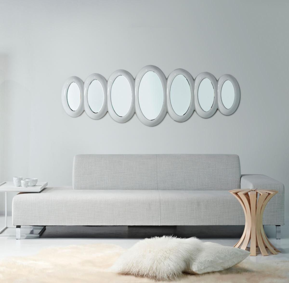 casa padrino luxus designer spiegel hochglanzwei 195 x h 67 cm hotel kollektion spiegel. Black Bedroom Furniture Sets. Home Design Ideas