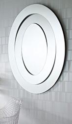 Casa Padrino Luxus Designer Spiegel / Wandspiegel 95 x H. 123 cm - Luxus Kollektion