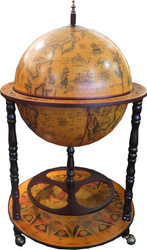 Casa Padrino baroque globe with wheels 55 x H. 90 cm - Art Deco Furniture