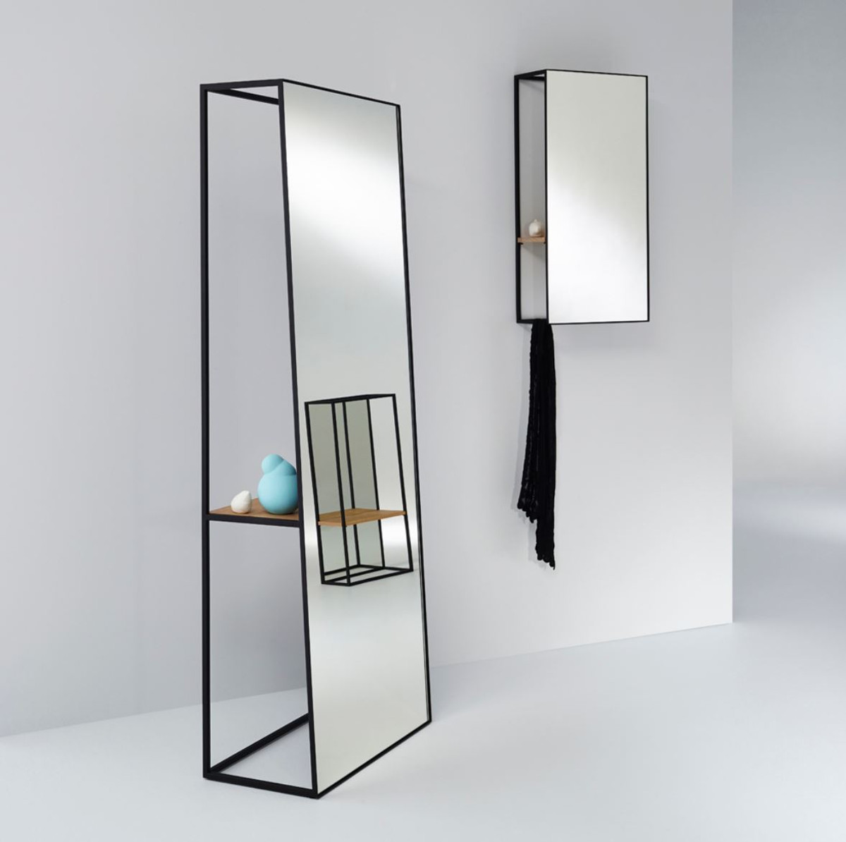 Casa padrino luxury wall mirror with shelf 40 x 17 x h 80 for Miroir 40 x 80