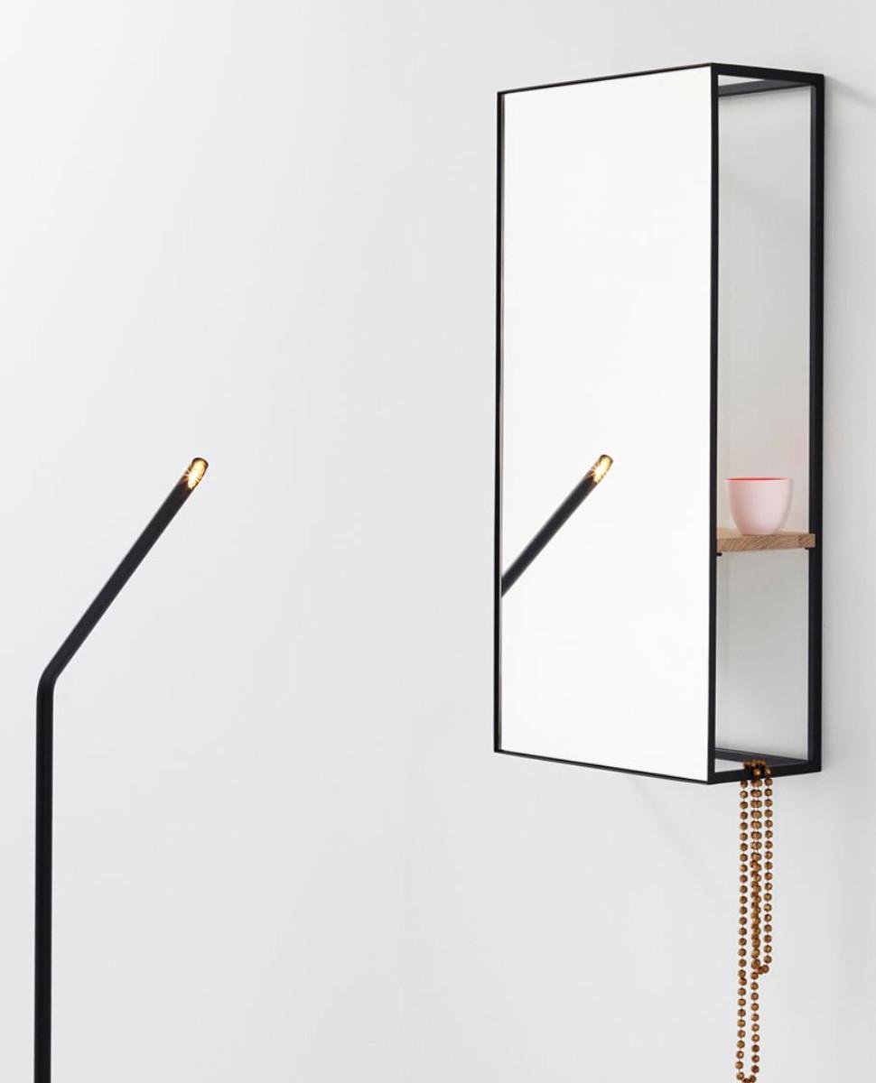 Casa Padrino Luxus Wandspiegel mit Regal 40 x 17 x H. 80 cm ...