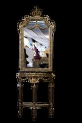 Pompöös by Casa Padrino baroque mirror console with marble top gold / black - Pompöös baroque mirror console designed by Harald Glööckler