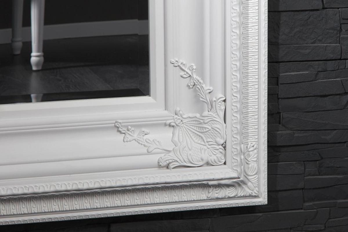 Casa Padrino Barock Wandspiegel Weiß  Höhe 180 cm, Breite 95 cm - Edel & Prunkvoll 3