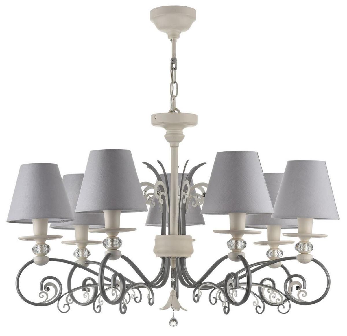 Casa padrino baroque chandelier white gray 75 x h 46 cm casa padrino baroque chandelier white gray 75 x h 46 cm baroque aloadofball Images