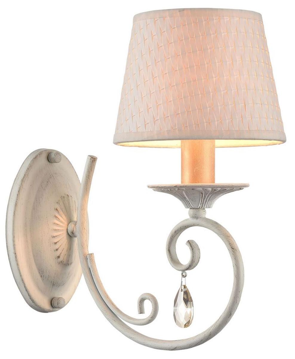 Casa Padrino Barock Wandleuchte Weiß / Gold 15 x 26 x H. 29 cm - Barockstil Wandlampe 1