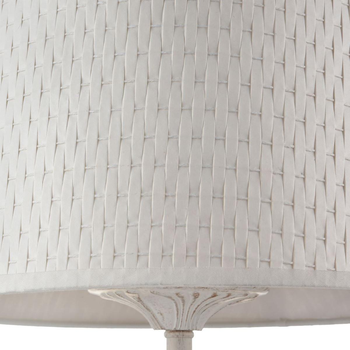 Casa Padrino Barock Tischleuchte Weiß / Gold Ø 27 x H. 49 cm - Barockstil Tischlampe 4