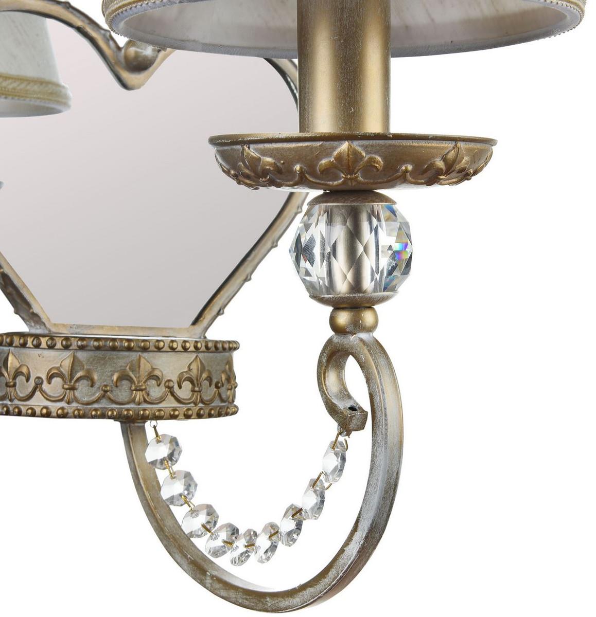 Casa Padrino Barockstil Wandleuchte mit Spiegel Creme / Gold 19 x 26 x H. 32 cm - Barockstil Möbel 4