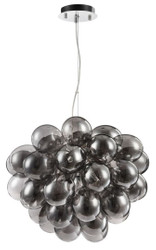 Casa Padrino luxury hanging lamp in grape-shaped design black Ø 44-50 x H. 40 cm - Designer Furniture