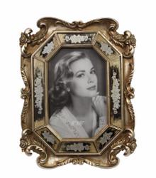 Casa Padrino Barock Bilderrahmen Antik Silber H 24,4 cm, B 18,8 cm