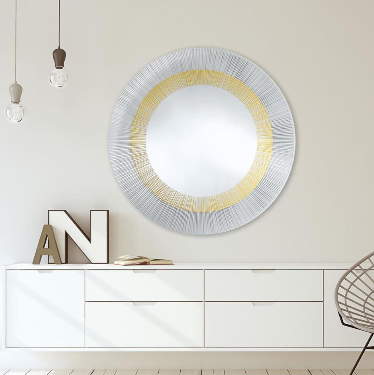 Casa Padrino Luxus Designer Wohnzimmer Spiegel Bronze Ø 105 Cm    Designermöbel ...