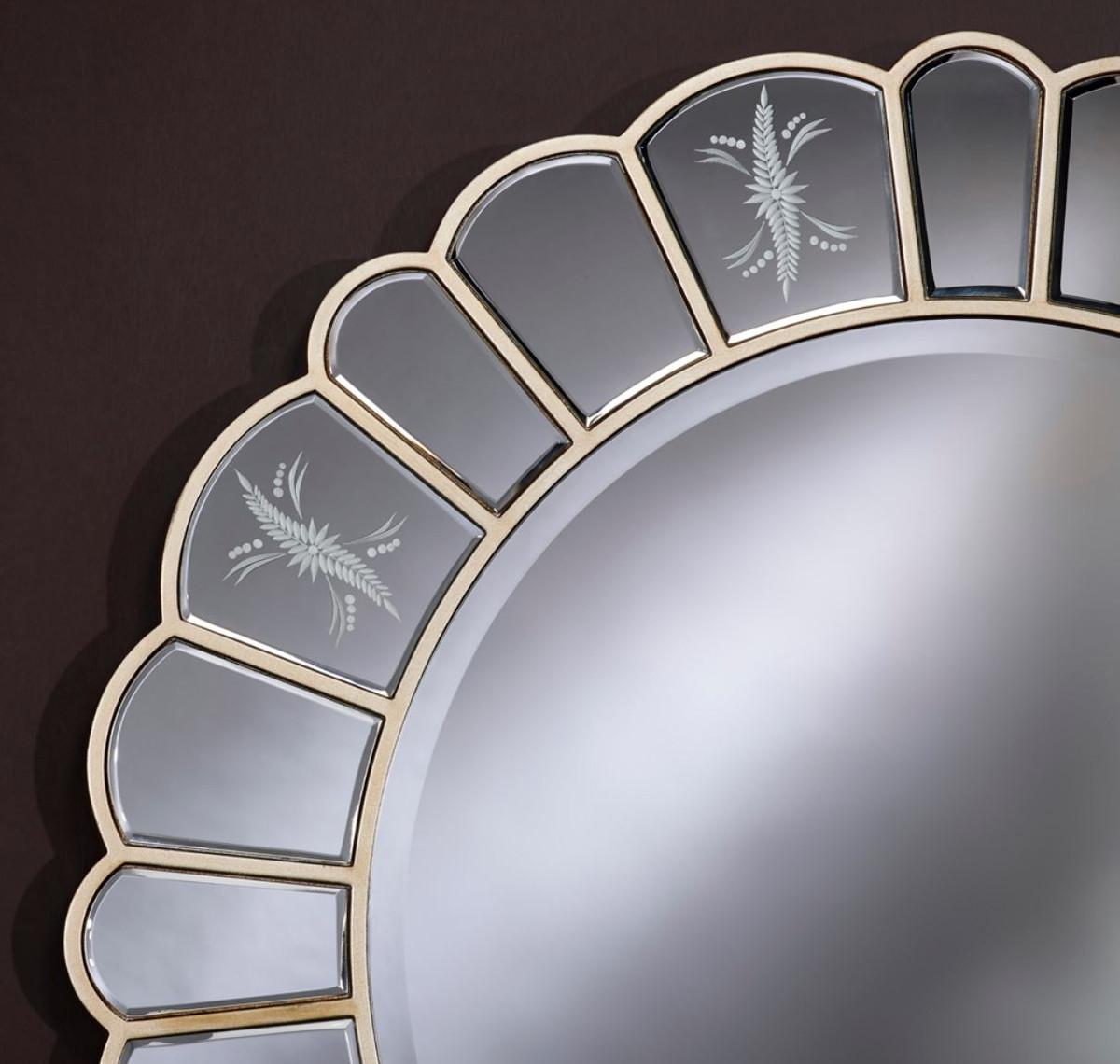 Casa Padrino Specchio Da Parete Con Incisioni Decorative O 100 Cm Accessori Soggiorno Di Lusso Casa Padrino De