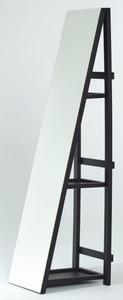 Casa Padrino Standspiegel mit Regale 37 x 37 x H. 160 cm - Luxus Ankleidespiegel – Bild 1