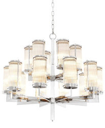 Casa Padrino Luxury Chandelier Silver 75.5 x H. 73 cm - Hotel Restaurant Furniture