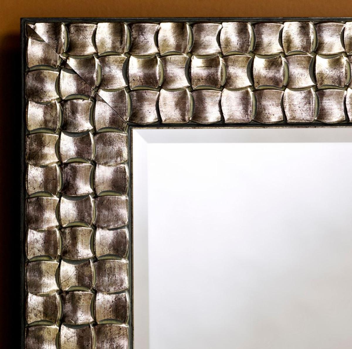 Casa Padrino specchio da parete per soggiorno argento 71 x H. 98 cm ...