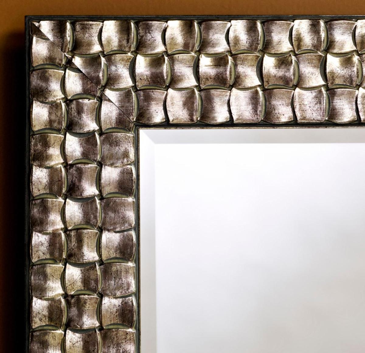 Casa Padrino specchio da parete per soggiorno argento 57 x H. 147 cm ...