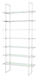 Casa Padrino luxury shelf cabinet silver 120.5 x 40 x H. 253 cm - Luxury Furniture
