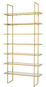 Casa Padrino luxury shelf cabinet gold 120.5 x 40 x H. 253 cm - Luxury Furniture