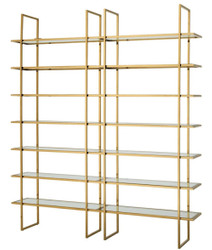 Casa Padrino luxury shelf cabinet gold 220 x 40 x H. 253 cm - Luxury Quality