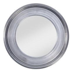 Casa Padrino living room wall mirror silver Ø 94 cm - Luxury Living Room Accessories