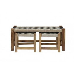 Casa Padrino bench natural - 99 cm x 40 cm x H43 cm - wood seating