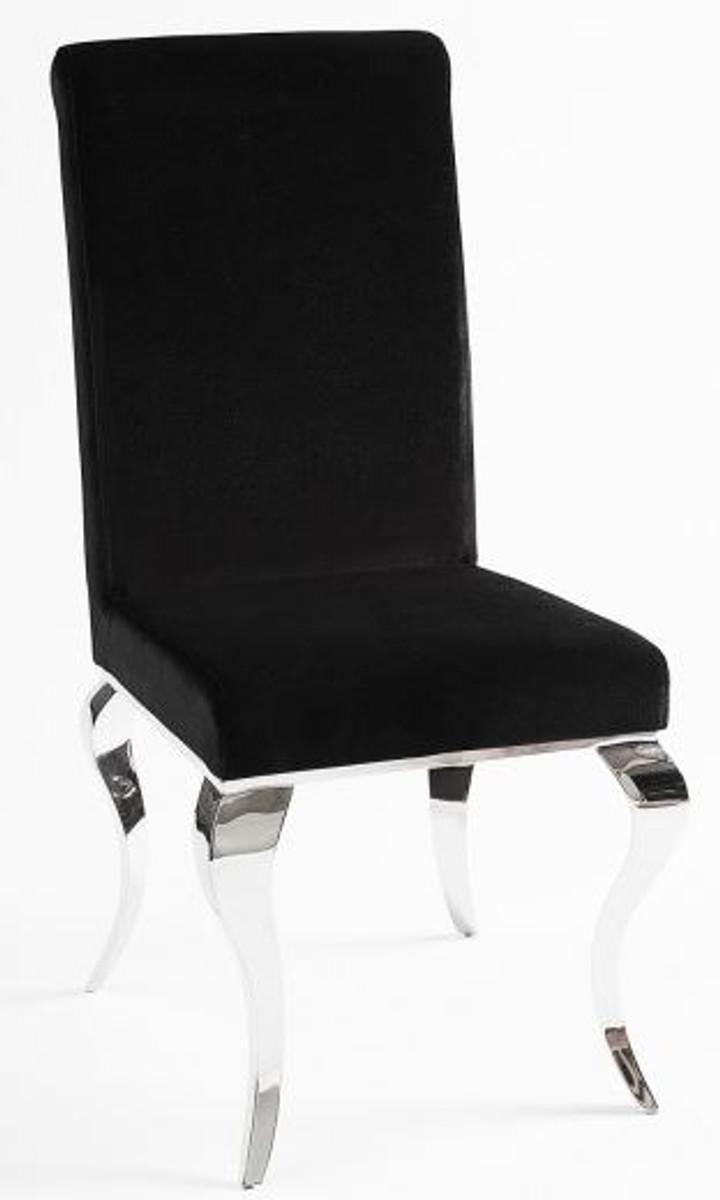 Charmant Casa Padrino Luxus Esszimmer Stuhl Schwarz / Silber   Designer Stuhl    Luxus Qualität   Modern