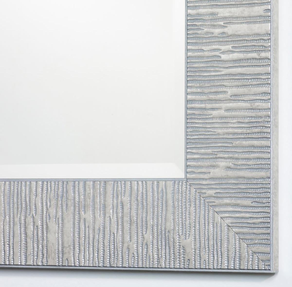 Casa Padrino Wohnzimmer Spiegel Silber 91 X H. 120 Cm