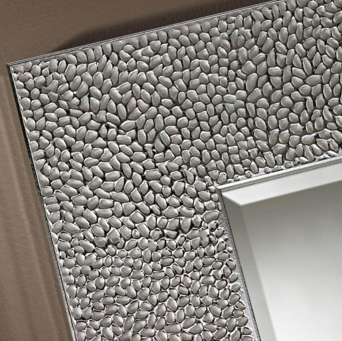 Casa Padrino Wohnzimmer Spiegel Silber 102 X H 102 Cm Luxus