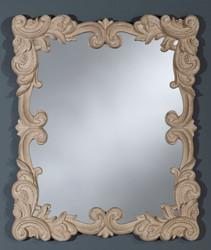 Casa Padrino baroque wall mirror antique style beige 50 x H. 60 cm - Baroque Style Mirror